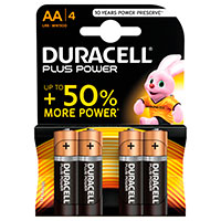 AA batterier (Alkaline) Duracell Plus Power - 4-Pack