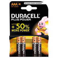 AAA batterier (Alkaline) Duracell Plus Power - 4-Pack