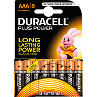 AAA batterier (Alkaline) Duracell Plus Power - 8-Pack