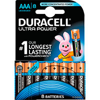 AAA batterier (Alkaline) Duracell Ultra Power - 8-Pack