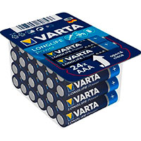 AAA batterier (Longlife Power) Varta - 24-Pack