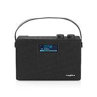Bærbar DAB+/FM radio m/Bluetooth (15W) Sort - Nedis