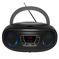 Bluetooth Boombox (CD/FM/USB) Grå - Denver TCL-212BT