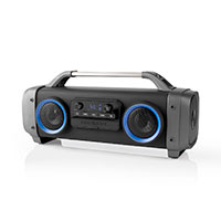 Boombox m/lys - 60W (Bluetooth) Sort - Nedis