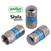 Cablecon F-connector metal - 6.8mm (F-56)