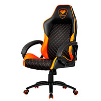 Cougar Fusion Gaming stol (PVC læder) - Sort/Orange