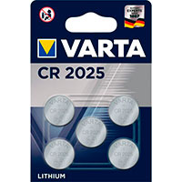 CR2025 knapcelle batteri 3V (Lithium) Varta - 5-Pack