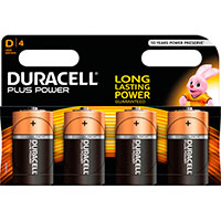 D batterier (Alkaline) Duracell Plus Power - 4-Pack