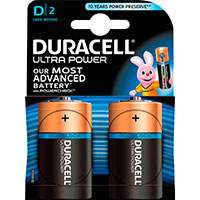 D batterier (Alkaline) Duracell Ultra Power - 2-Pack