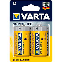 D batterier Zink - Varta Superlife 2 stk.