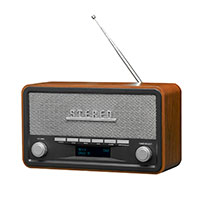 Retro DAB+ Radio (Design Small) - Mørkt træ