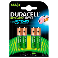 Duracell genopladelige AAA batterier (900mAh) 4-Pack