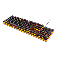 Gaming tastatur m/orange backlight - Deltaco Gaming
