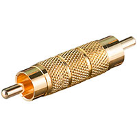 Phono adapter Metal (Han/Han) - Guld