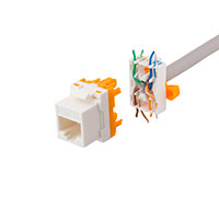 Keystone Connector Cat6a m/drejeterminering (UTP) Toolless