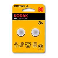 Kodak Max CR2025 Lithium batterier (3V) 2-Pack