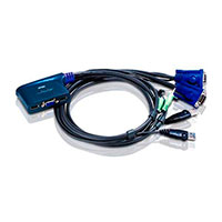 KVM Switch - ATEN VGA/USB/LYD (1:2 computere)