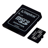 Micro SDHC Kort 32GB V10 A1 m/adapter (UHS-I) Kingston