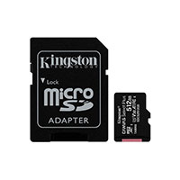 Micro SDXC Kort 512GB V30 A1 m/adapter (UHS-I) Kingston