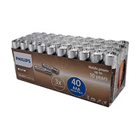 Philips Power AAA batterier (Alkaline) 40-Pack