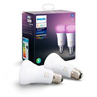 Philips Hue Color Ambiance LED pære E27 - 9W (60W) 2-Pack