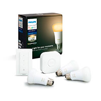 Philips Hue White Ambiance E27 startsæt BT - 9W (60W) 3-Pack