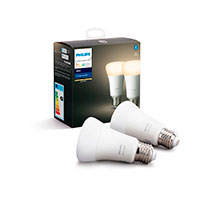 Philips Hue White LED pære E27 -  9W (60W) 2-Pack