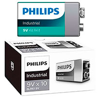 Philips Industrial 9V batterier (Alkaline) 10-Pack