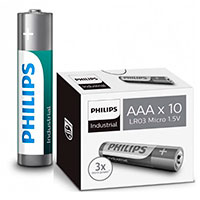 Philips Industrial AAA batterier (Alkaline) 10-Pack