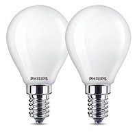 Philips Krone LED pære E14 Mat - 2,2W (25W) 2-Pack