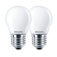 Philips Krone LED pære E27 Mat - 2,2W (25W) 2-Pack