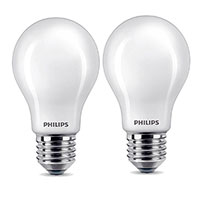 Philips LED pære E27 Mat - 7W (60W) 2-Pack