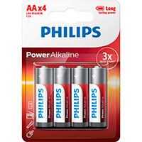 Philips Power AA batterier (Alkaline) 4-Pack