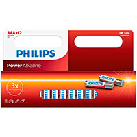Philips Power AAA batterier (Alkaline) 12-Pack