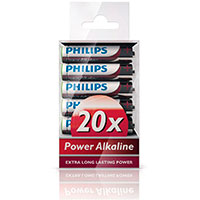 Philips Power AAA batterier (Alkaline) 20-Pack
