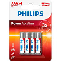 Philips Power AAA batterier (Alkaline) 4-Pack