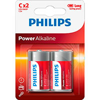 Philips Power C batterier (Alkaline) 2-Pack