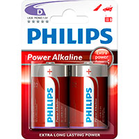 Philips Power D batterier (Alkaline) 2-Pack