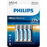 Philips Ultra AAA batterier (Alkaline) 4-Pack