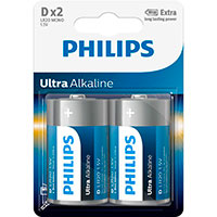 Philips Ultra D batterier (Alkaline) 2-Pack