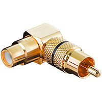 Phono adapter High Grade Vinklet - Guld (Sort)
