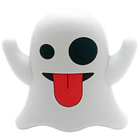 PowerBank 2200 mAh 1A (1xUSB-A) Celly Emoji Ghost