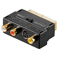 Scart adapter med switch - Guld