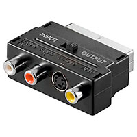 Scart adapter med switch