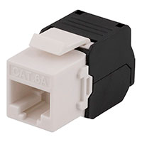 Keystone Connector Cat6a (Tolless) Sort/Hvid