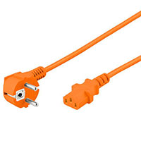 Strømkabel Universal - 2m (Orange)