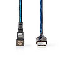 USB-A til Lightning kabel - 1m (Gaming 180) Blå - Nedis