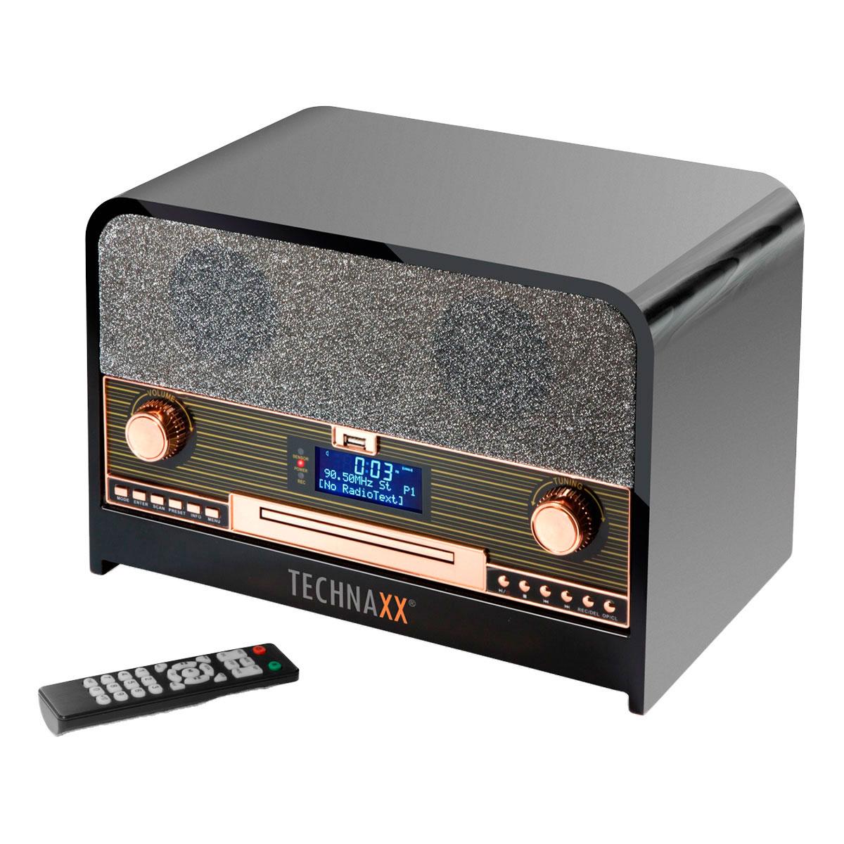 Topmoderne DAB+ radio m/Bluetooth (CD/USB) Sort - Technaxx TX-104 XP-79