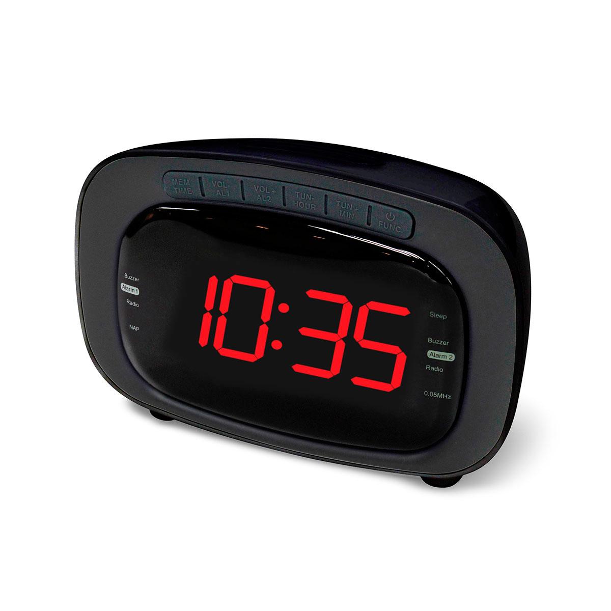 ea96dc32ddc Clockradio LCD Sort (Vækkeur med FM radio) CR-422