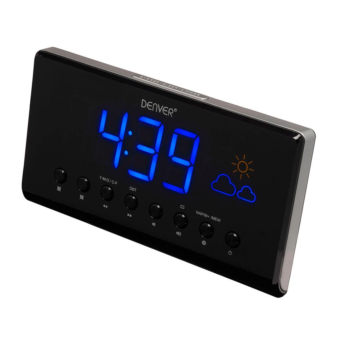 5b892e11e03 Clockradio med vejrstation (Vækkeur med FM radio)